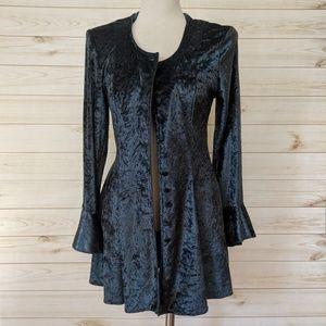 Vintage Crushed Velvet Victorian Jacket